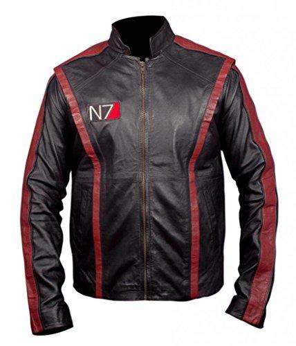 F&H Men's Mass Effect 3 N7 Commander Shepherd Jacket Black