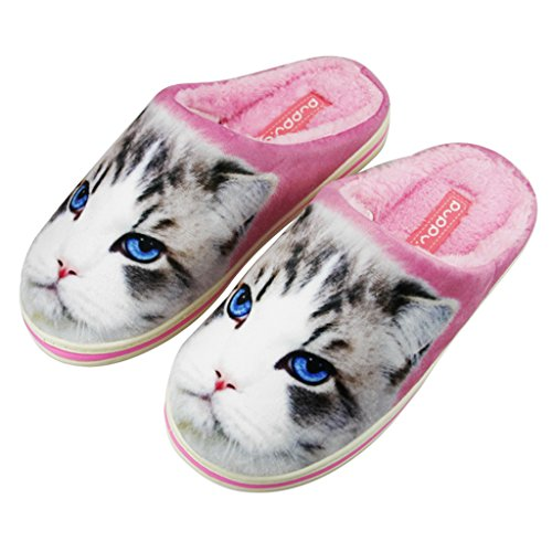 FakeFace Soft Plush Slippers Lovers Slippers Slippers with Cat Motif for Winter Autumn Spring