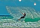 Kitesurfen - über den Wellen (Wandkalender 2019 DIN A4 quer): Kitesurfing, ein ultimativer Funsport, der täglich neue Anhänger findet. (Monatskalender, 14 Seiten ) (CALVENDO Sport)