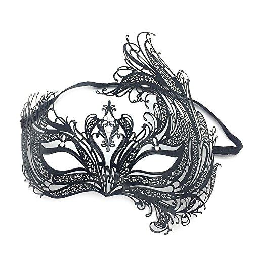 Maskerade,Diamant Make-up Tanz Phoenix Party Maske Bunny Cat Gesicht halb Gesicht Venedig Metall Schmiedeeisen Maske Masquerade