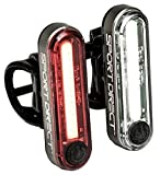 Sport Direct, set di luci da bici da 30 LED COB, ricaricabile tramite USB, 130 lumen