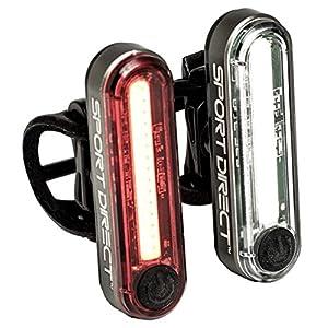 51M5THlH86L. SS300 Sport Direct, set di luci da bici da 30 LED COB, ricaricabile tramite USB, 130lumen