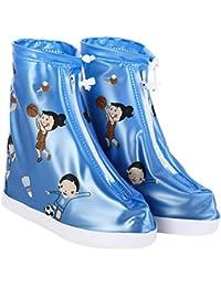 Domybest Cubierta del Zapatos Impermeable con Cremallera para la lluvia y nieve, Cubrezapatillas para botas