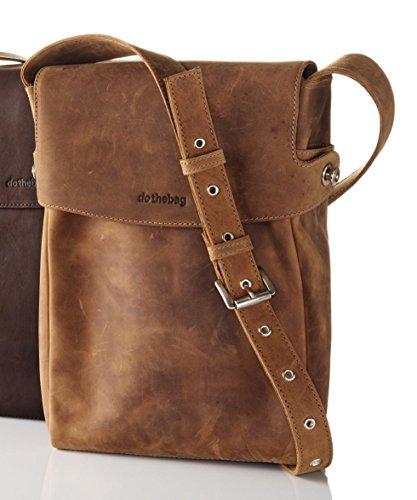 dothebag Raboison borsa a tracolla Toro pelle 26 cm marrone nature