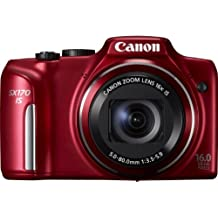 Canon SX170 IS PowerShot Fotocamera Digitale, 16 Megapixel, HD Movie, Rosso