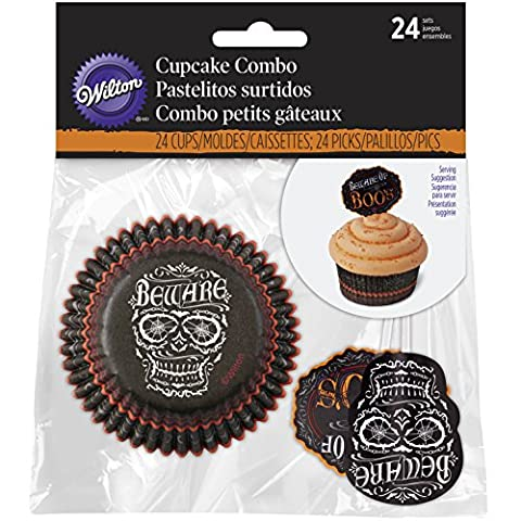 Wilton All Hollows Even Halloween Cupcake Decorating Kit, Wood, Black - Dozzina Muffins