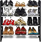KPM™ Easy to Assemble & Light Weight Foldable 4 Shelves Shoe Rack