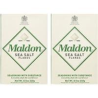 Maldon Sea Salt Flakes (250 g) - Packung mit 2