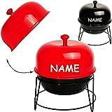 Unbekannt Barbecue - BBQ Grill  - inkl. Name - Aufbewahrungsdose mit Deckel - Schale Tisch - Aufbewahrungsbox / Vorratsdose - Aufbewahrungsschale - Tischdeko Eßtisch..
