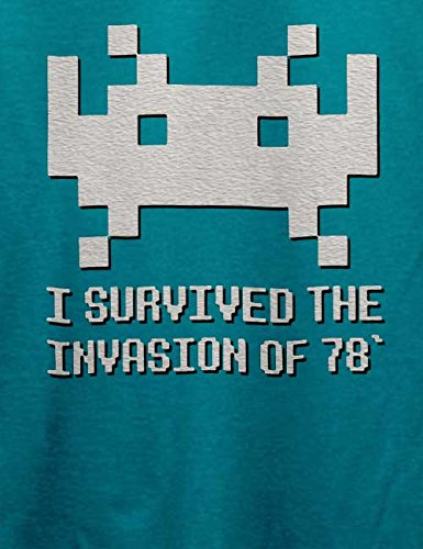 Space Invader 78 T-Shirt Türkis