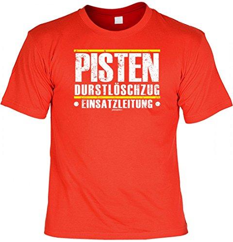 Cooles T-Shirt mit Spruch - Pisten Durstlöscher - Einsatzleitung - geiles Geschenk Shirt für Party und Feier Freunde, Größe:L