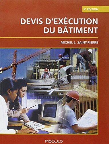 Devis d Execution du Btiment 2e ed