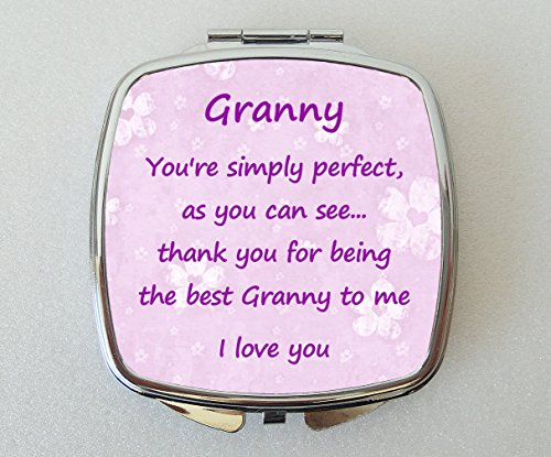 Starprint Sublimation Granny Miroir Compact doté d'une Jolie Thank You Verse