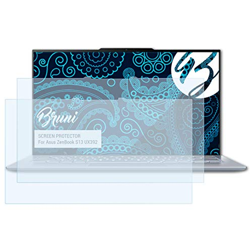 Bruni Schutzfolie kompatibel mit Asus ZenBook S13 UX392 Folie, glasklare Bildschirmschutzfolie (2X)