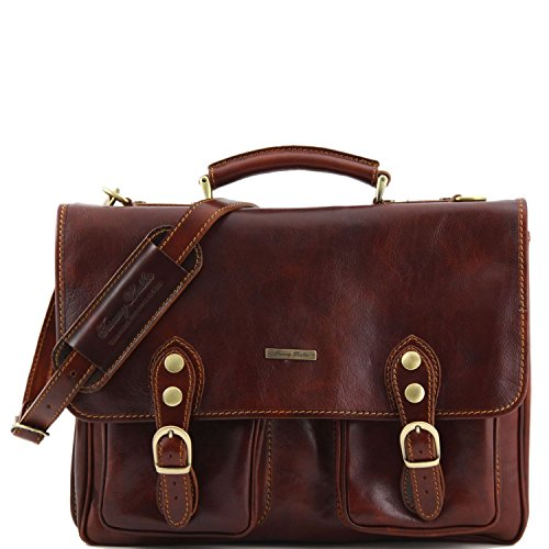 Tuscany Leather - Modena - Besace en cuir avec 2 compartiments - Grand modèle Marron - TL100310/1 Marron