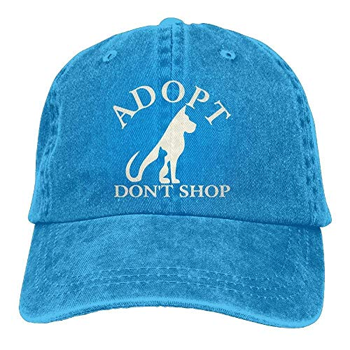 bfbe4b854a1 Wdskbg Men s Women s Adjustable Denim Jeans Baseball Caps Adopt Don t Shop  Dad Hat