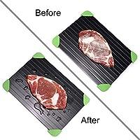 Bandeja de Descongelación Rápida Placa de Deshielo Aluminio Descongelación de Carne o Alimentos Congelados Rápida y Segura