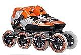 NUO-Z Pattinaggio di velocità Pattinaggio a rotelle Pattini a rotelle a rotelle Studenti in Fibra di Carbonio Uomini Adulti e Donne Professionali Orange/EU36