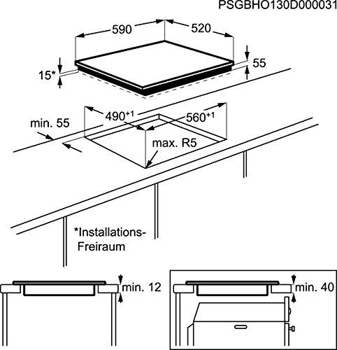 AEG HK6542H1 Kochfeld Elektro / Induktion / 59 cm / Schwarz / Elektronische Anzeigen / Automatische Topferkennung - 2