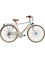 'Bicicleta Cicli Adriatica Golf de Hombre, estructura de acero, rueda de 28, cambio Shimano de 6 velocidades, talla 50, 2 colores disponibles, gris