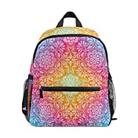 Flowers Pattern Rainbow Childrens School Bag Kid