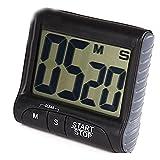 DaoRier Küchenuhr Timer Digital Stoppuhr Kurzzeitmesser Kurzzeitwecker Eieruhr Timer Küchentimer Zeitmesser mit LCD Schwarz