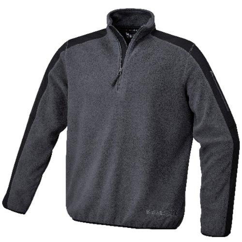 Beta 076320001 7632 G, kleine Polyester Fleece Pullover mit Einsatz, Grau Kleine Polyester-fleece