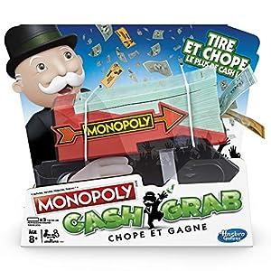 Monopoly Cash & Grab: Jarra y gagne-Version Francesa Juego de Tablero, e30371010,