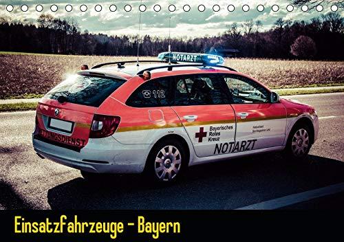 Einsatzfahrzeuge - Bayern (Tischkalender 2021 DIN A5 quer): Kalender mit Einsatzfahrzeugen von Feuerwehr, Polizei und Rettungsdienst. (Monatskalender, 14 Seiten ) (CALVENDO Mobilitaet)