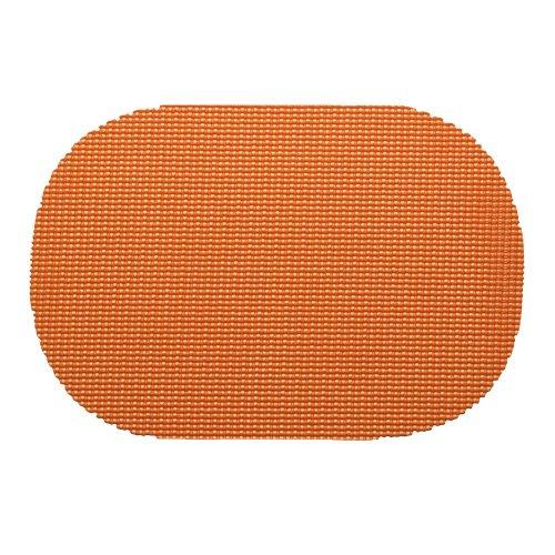 Kraftware 31136Netz Tisch-Sets DZ, Oval, Schwarz Oval Spice Orange Oval Spice
