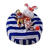 LY-LD Kid es Stuffed Storage Bean Bag Chair mit Extra Long Zipper, Carrying Handle, 100% Sturdy Leinwand-für gefüllte Spielzeuge/Kleidung/Quilts Lagerung,D,26inch
