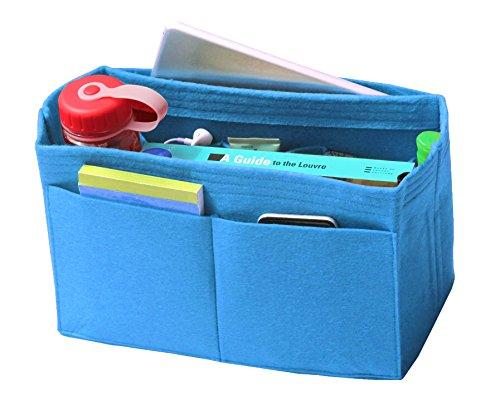 [Passt verschiedene Taschen, L.V. Her.mes Long.champ Go.yard] Filz Tote Organizer (w / Milk Wasserflaschenhalter), Geldbörse einfügen, Kosmetik-Make-up Windel Handtasche, Taschen