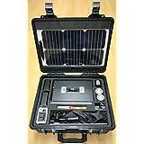 Kit Solar fotovoltaico Portátil con Panel Solar Semiflexible (bajo peso) - Manual Tracking - Display digital con tensión e intensidad - manual del usuario en español - medio de transporte waterproof. ENELTRA CASE 984