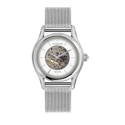 TRUSSARDI Reloj Analógico para Hombre de Automático con Correa en Acero Inoxidable R2423127001