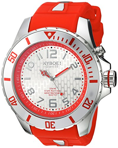 KYBOE Unisex-Adult Analogue Quartz Watch with Silicone Strap KY.55-029.15