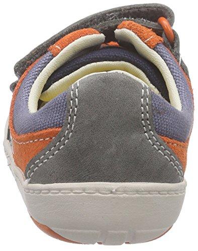 Clarks Kids Maxi Myle Fst, Baskets premiers pas mixte bébé Bleu (Denim Blue Lea)