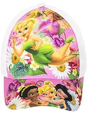 Disney Fairies Baseball Cap für Kinder, weiß/bunt, original Lizenzware, Gr. 52 und 54