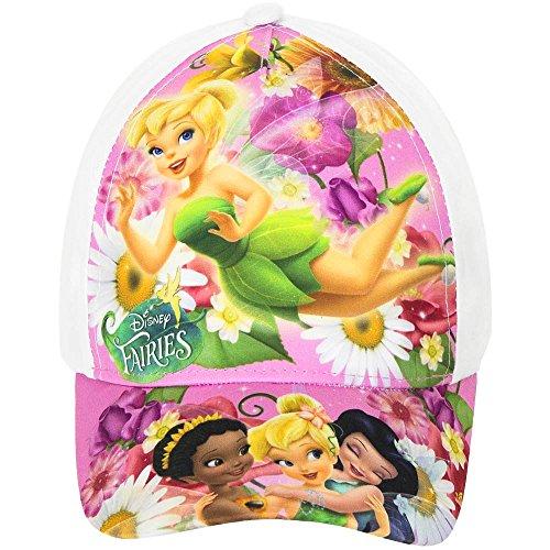 Disney Fairies Baseball Cap für Kinder, weiß/bunt, original Lizenzware, Gr. 52