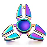 Hand Spinner Stress Relief Toy, coloré en alliage daluminium Spinner main Fidget Toy Réducteur de stress Made Bearing Focus Anxiety Relief Toys for Killing Time