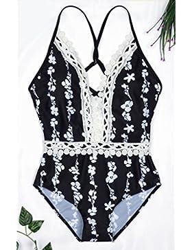 Traje de baño de una sola pieza _Split traje de baño, ropa de baño adelgazantes segura de la moda, como se muestra...