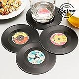 Posavasos Retro Discos de Vinilo (pack de 4)