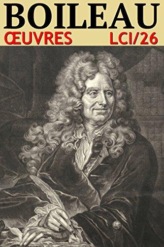 Couverture du livre Nicolas Boileau - Oeuvres (26)