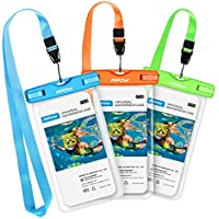 [3 Pezzi] Custodia Impermeabile Smartphone Mpow IPX8 Borsa Impermeabile, 5.7 IN Sacchetto Impermeabile Cellulare Dry Bag, Sacchetto di Smartphone Universale per iPhone 7/7 Plus, Galaxy /Google Pixel/LG/HTC