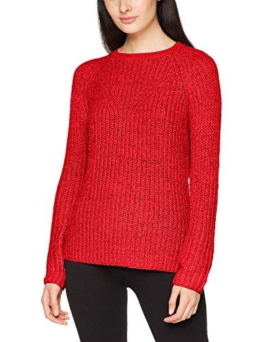 Only Onltitania L/S Pullover Cc Knt, Pull Femme Rouge (Flame Scarlet Flame Scarlet)