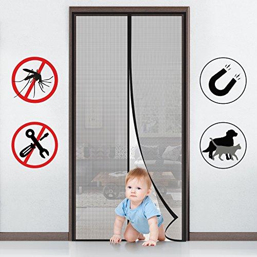 MYCARBON Mosquitera para puerta Protección contra insectos magnético(90 * 210)