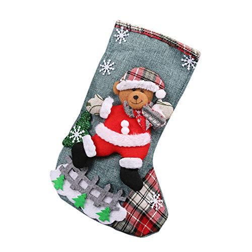 VENMO Weihnachtsstrümpfe Vintage christmas stocking - Weihnachtssocken und Weihnachtsstrumpf Weihnachtsmotiven - perfekte Weihnachtsdeko und Kamin Dekoration -