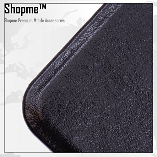 Shopme Flip cover for Intex Aqua View (Black Color)(PU Leather, Access to all Ports, complete mobile Protection,Extremely durable)