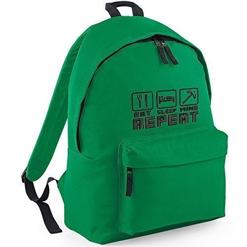 Price comparison product image Eat Sleep Repeat Embroidery on Kelly BAGs Rucksacks
