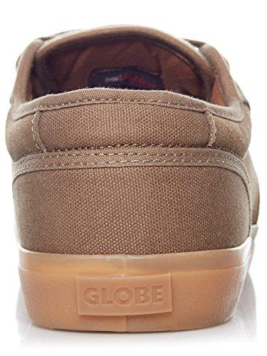 Globe Mens Motley Skateboard Shoes Green (oliva Marrone / Gomma)