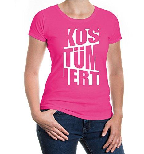 buXsbaum® Girlie T-Shirt Kostümiert Fuchsia-White